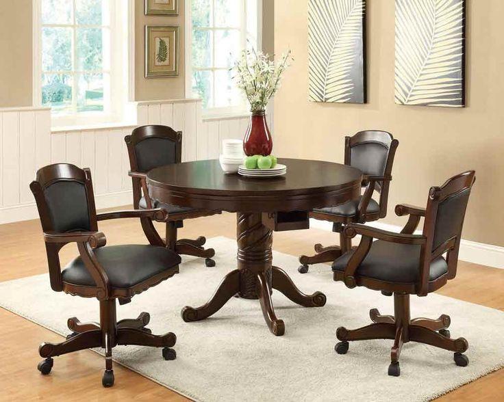 Coaster Furniture - Gaming Three In One Poker Bumper Pool Dining Set - 100871-2Set