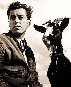 Photo of the French artist Bernard Buffet (1928-1999)