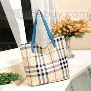 Comfortable Plaid Fancy Euramerican Style New Arrival Women's Shopping Bag