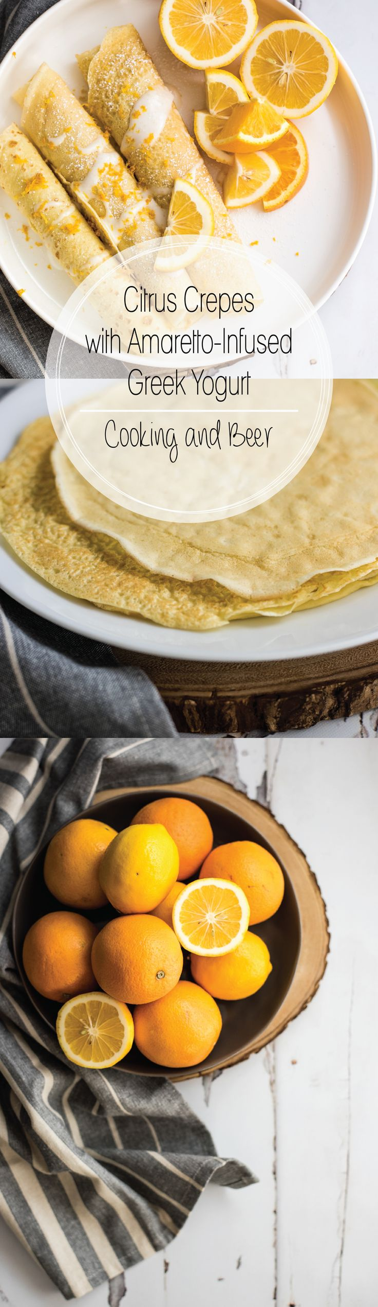 Citrus Lavender Crepes With Amarettoinfused Greek Yogurt