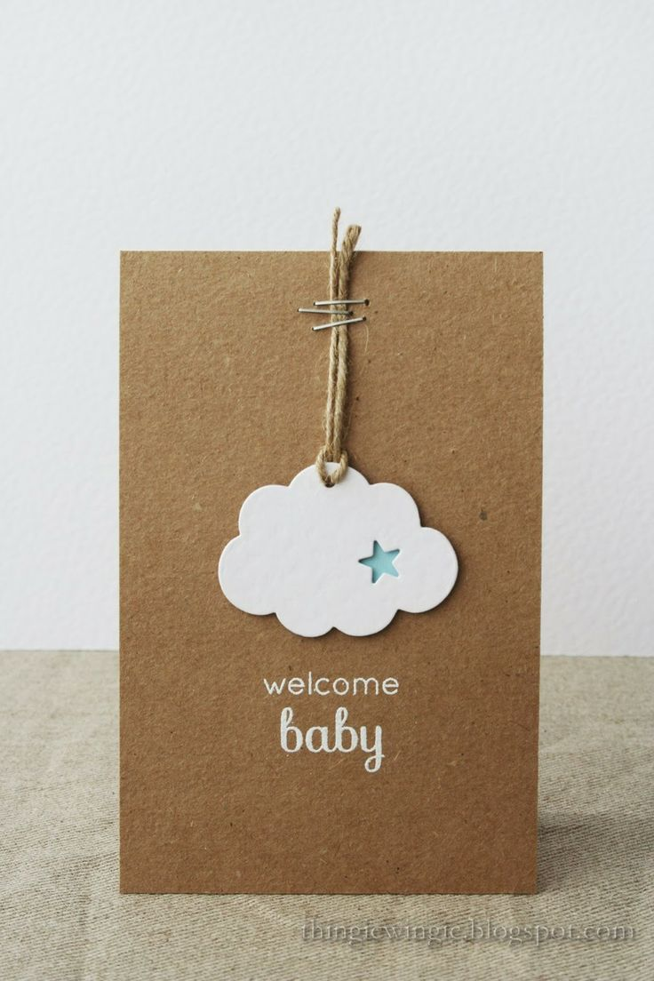 Love the stapled twine look (for tags on scrapbook page)