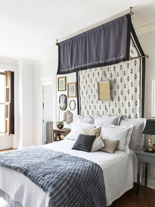 Best 20 curtain rod headboard ideas on pinterest for Drape canopy over bed
