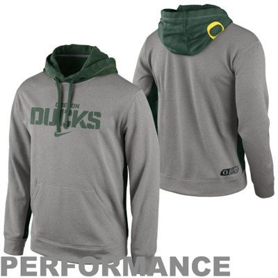 No. 5 - Nike Oregon Ducks KO Performance Hoodie - Ash -