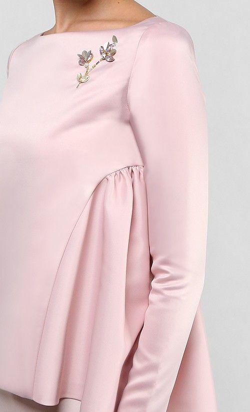 Arissa Kurung Set in Dusty Pink | FashionValet