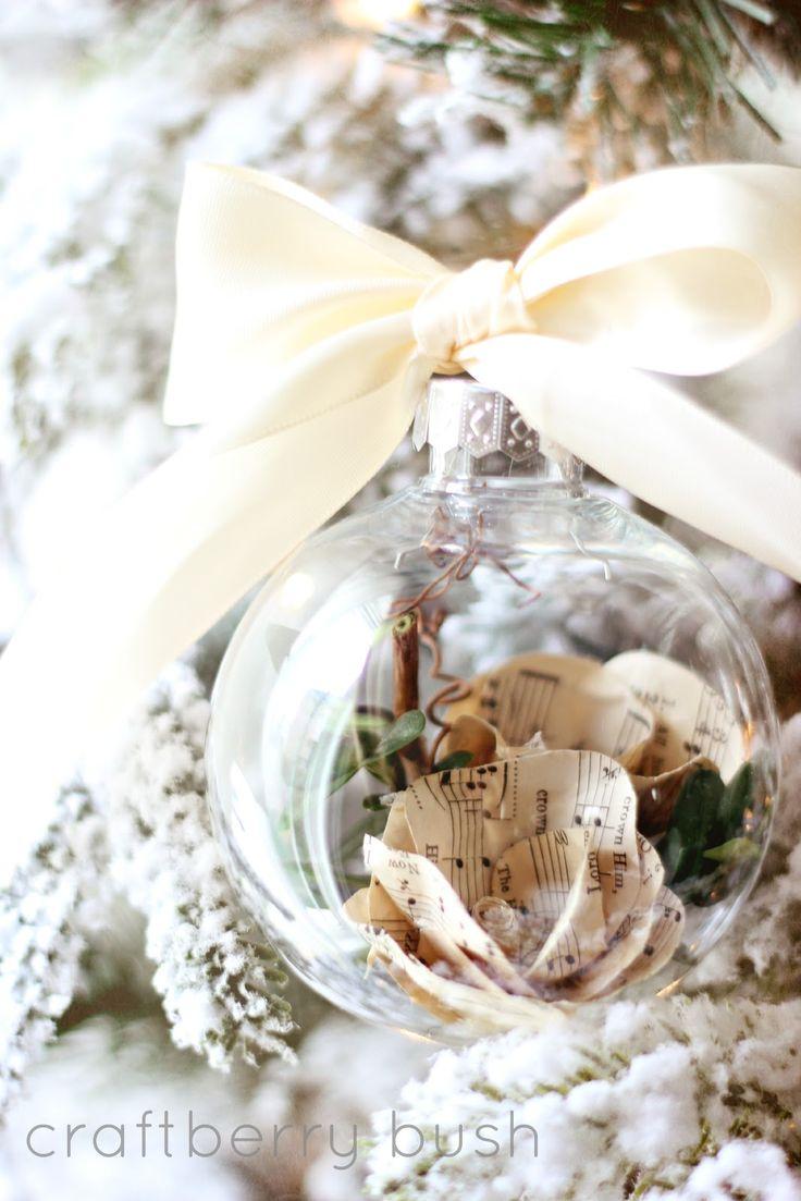 Christmas music ornaments - Craftberry Bush Music Sheet Rose Christmas Bulb Http Www