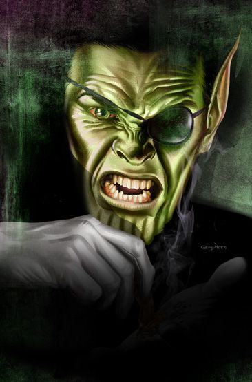 Nick Fury Skrull by Greg Horn