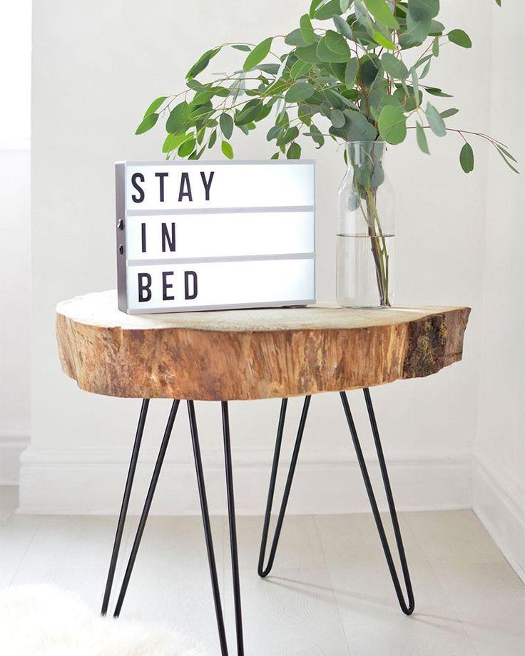 Diy table d 39 appoint fabriquer une table basse avec des - Fabriquer des pieds de table ...