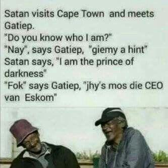 Ceo of eskom south African joke
