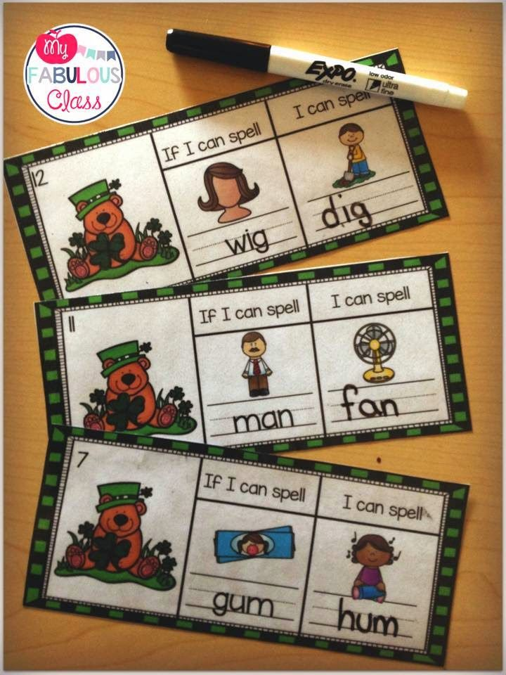 Students read the word and change the beginning sound to spell a new word.
