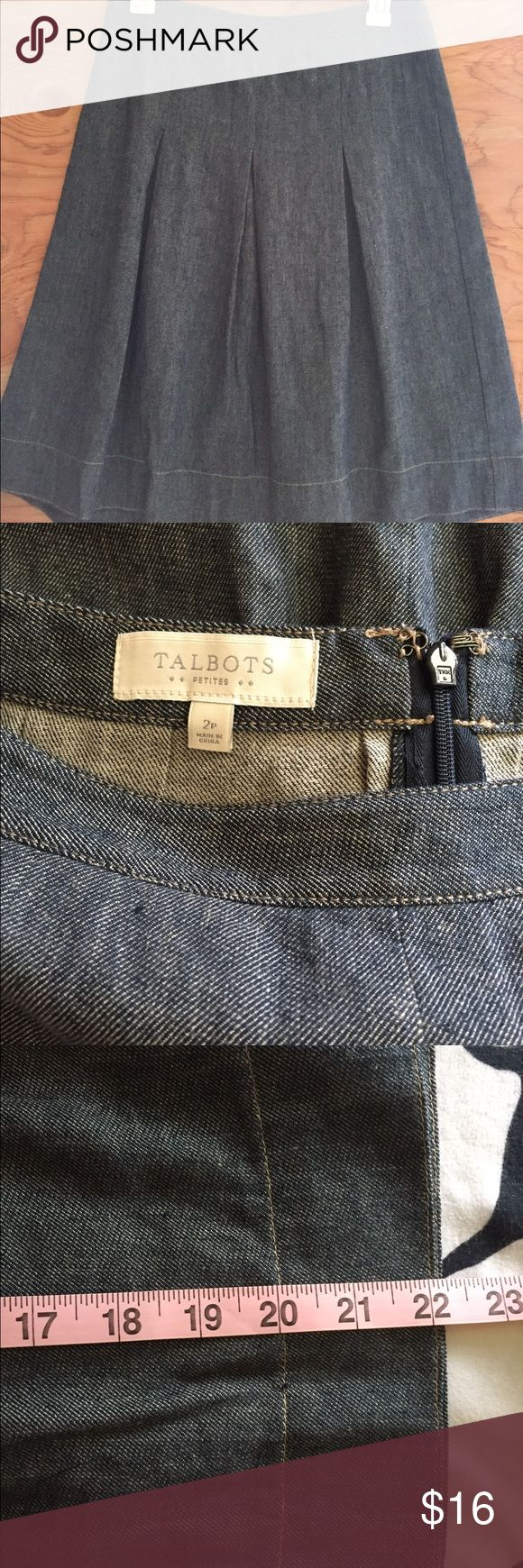 Talbots's petite skirt 57% linen 43% cotton in great condition. Talbots Skirts Midi