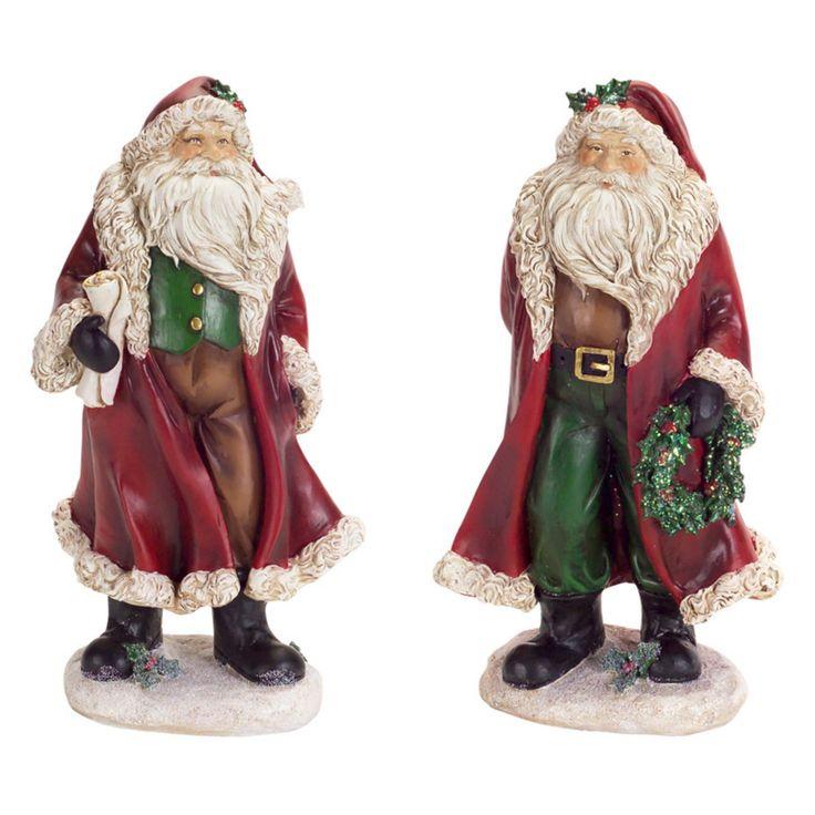 Melrose Jolly Christmas Santa Figurine Set - 65392