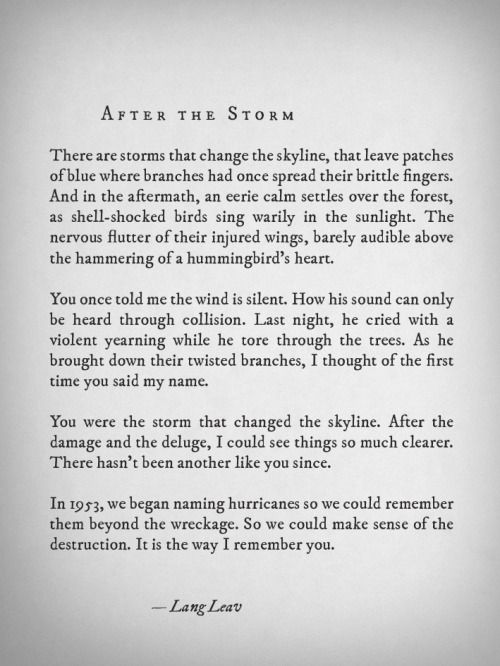 After The Storm by Lang Leav