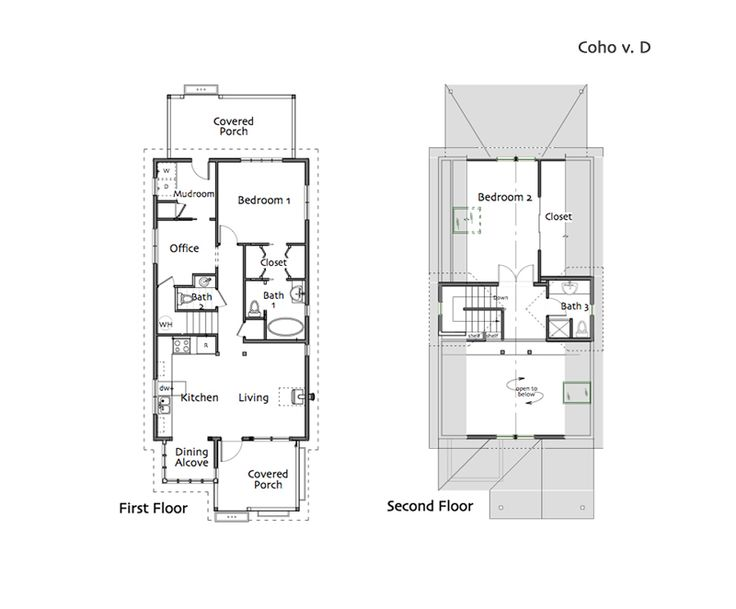 wonderful compact cottage plans #7: cottage plans, small house plans, cabin plans, small homes designed by Ross  Chapin