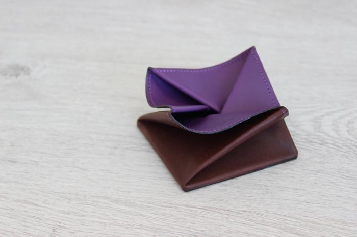 Porte monnaie Hurbane - cuir violet