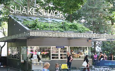 Shake Shack (hamburgers/ice cream shop) - multiple locations - modern day roadside burger stand serving burgers, hot dogs & frozen custard! The classics & the cheese dip (along w/ crinkle fries) is possibly my favorite thing in the entire world! RECOMMENDED: single cheeseburger w/ **cheese fries & a concrete jungle (vanilla custard, fudge sauce, bananas & peanut butter sauce)