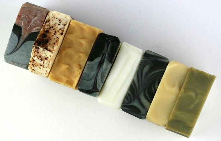 Line up of my hand made natural soaps.  Find me on Facebook & Instagram @butterflysoapstudio