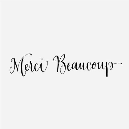Merci Beaucoup stamp by Antiquaria