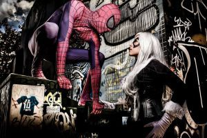 Black Cat and Spiderman Cosplay by karollhell  Black Cat https://www.facebook.com/karollvianacosplay Spiderman https://www.facebook.com/andreluiz.andrezao.1  photographer https://www.facebook.com/danieladamr #balckcat #cosplay #spiderman #marvel