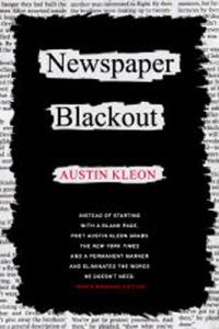 Newspaper Blackout Austin Kleon
