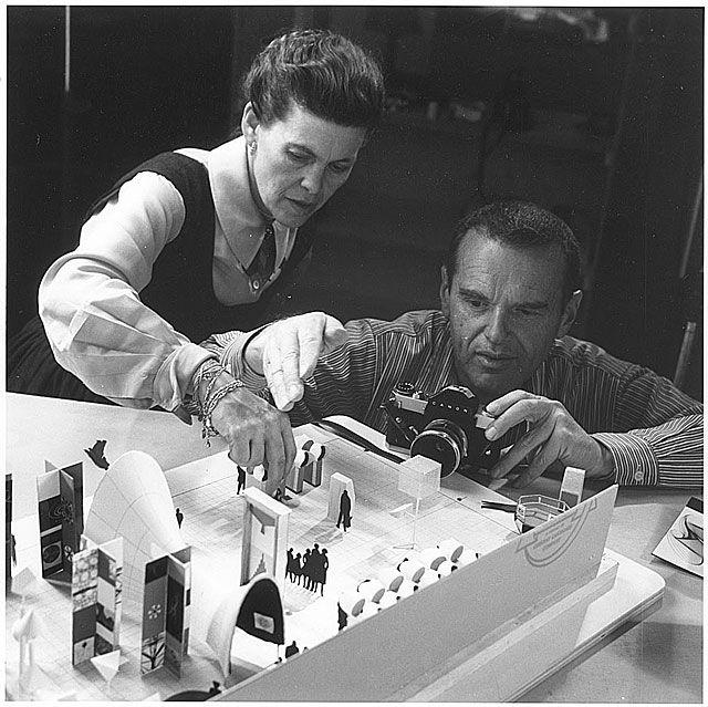 "Charles Ormond Eames, Jr (1907–1978) and Bernice Alexandra ""Ray"" (née Kaiser) Eames (1912–1988)"