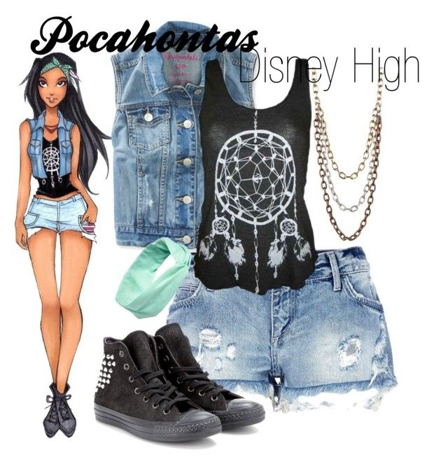 """Pocahontas Disney High"" by amarie104 ❤ liked on Polyvore"