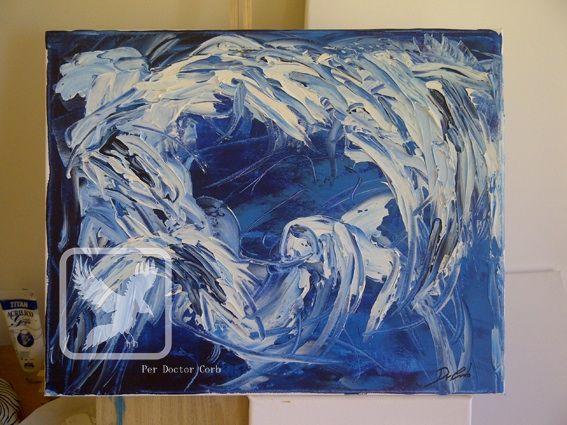Mar de fades - Original acrylic paint.