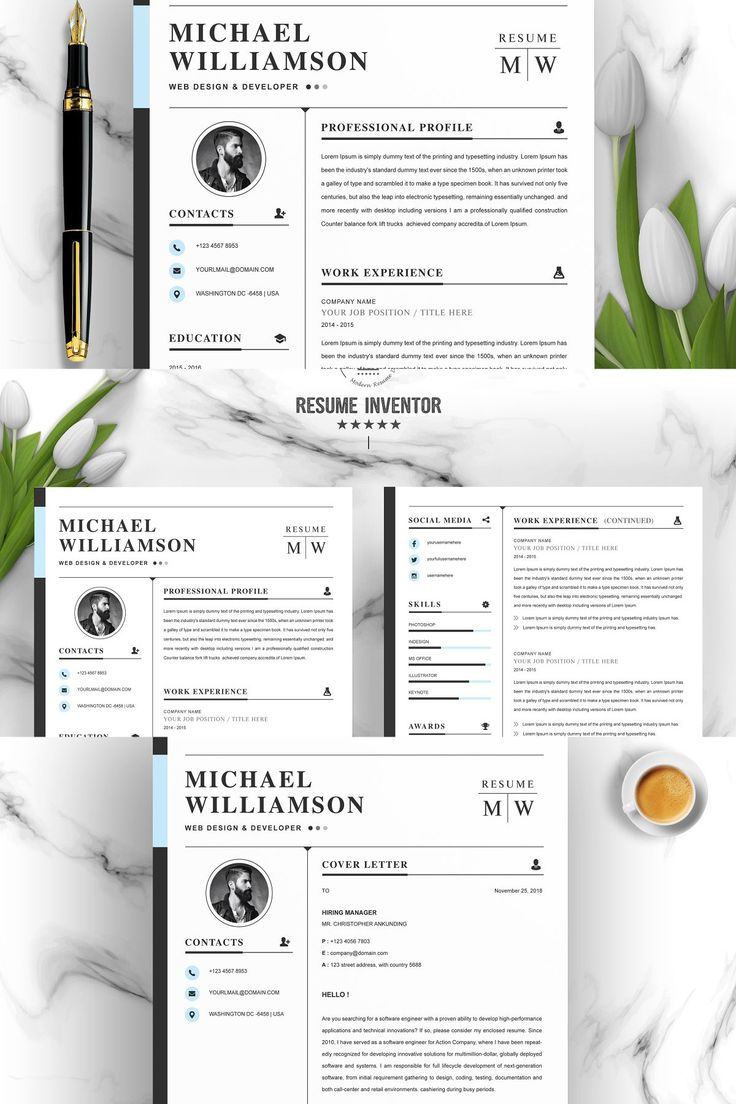 We make every piece of our resume design, such as text