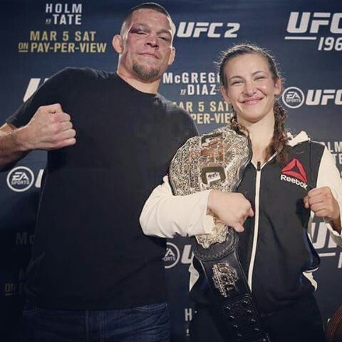 Champion Miesha Tate and Nate Diaz! Biggest winners of UFC 196.