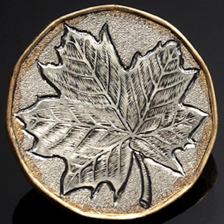 HARRY CALDWELL LOVE TOKEN - MAPLE LOONIE LEAF - 1992 CANADIAN DOLLAR