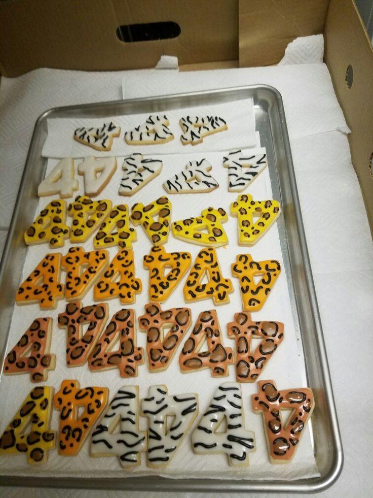 Lion Guard cookies Zebra, Lion print, Leopard print and Tiger print