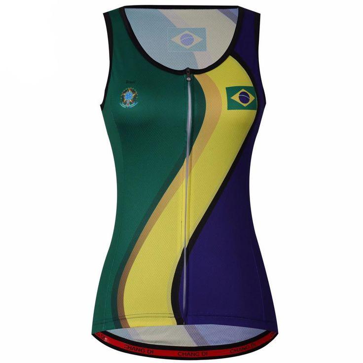 Women's Sleeveless Brazil Cycling Jersey – Online Cycling Gear