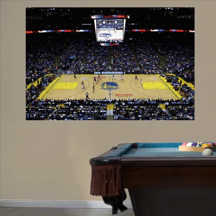 Golden State Warriors Arena Mural REAL.BIG. Fathead – Peel & Stick Wall Graphic | Golden State Warriors Wall Decal | Sports Home Decor