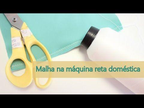 Esse vídeo dá dicas para você fazer a costura de malha na máquina reta doméstica.