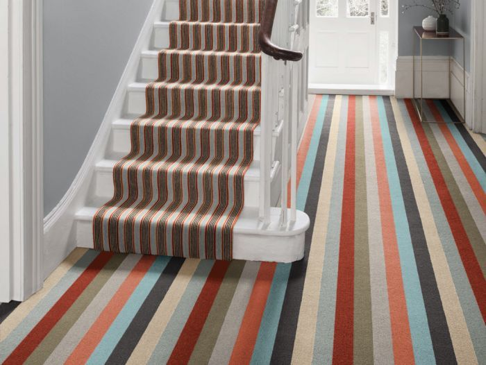 Tips For Choosing The Right Stair Carpet For Your Home Carpet Stairs Striped Carpet Stairs Patterned Carpet