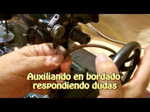 La maquina electrica de coser flores sencillas |Creaciones y manualidades angeles - YouTube