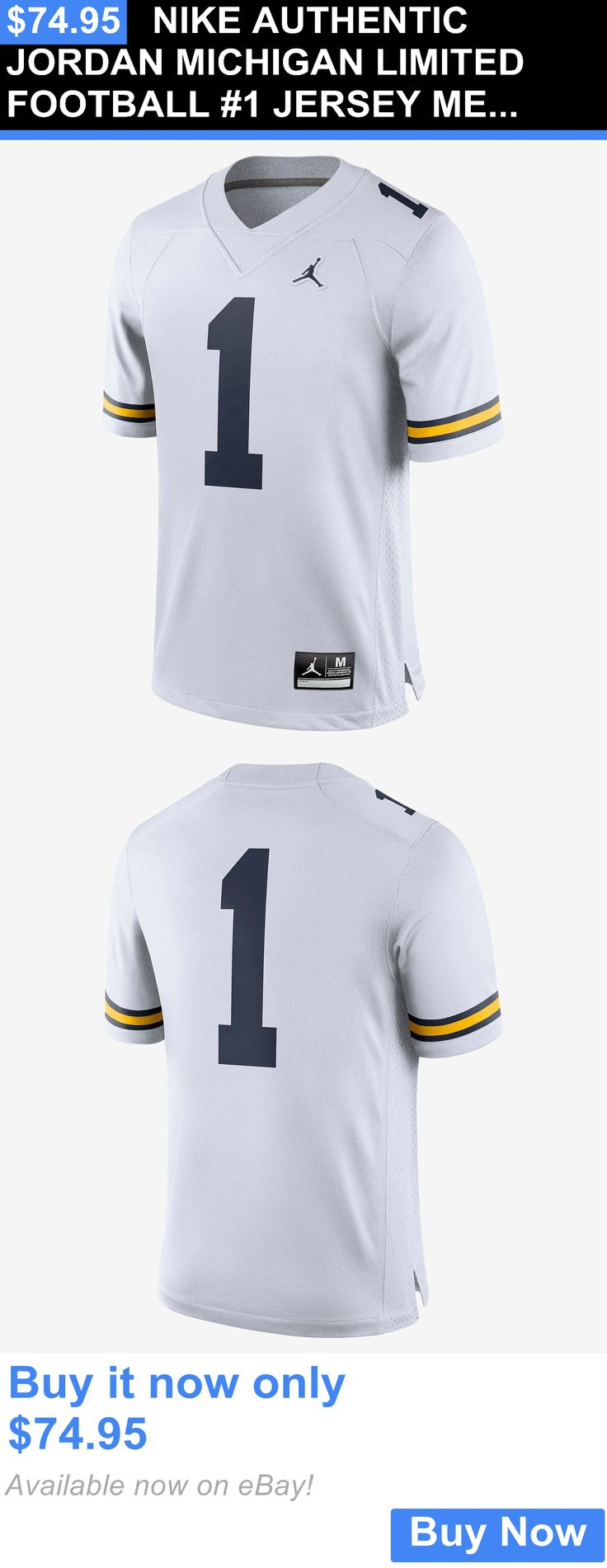 Sports Memorabilia: Nike Authentic Jordan Michigan Limited Football #1 Jersey Mens Size Xl BUY IT NOW ONLY: $74.95