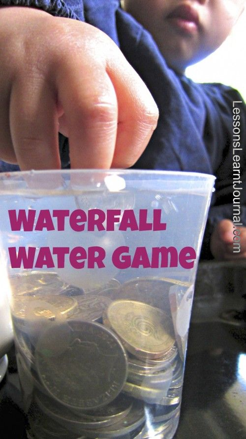 Do your kids love throwing coins into a wishing well? This water game, waterfall, is simple and fun to the core, (and will save you $$)!