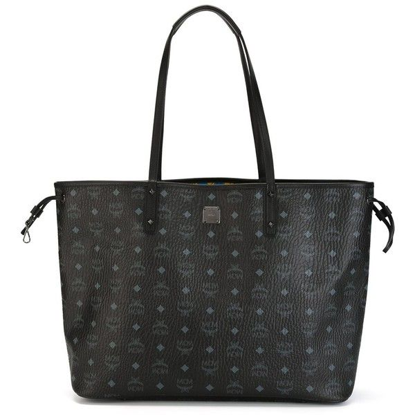 MCM Project Visetos Tote ($829) ❤ liked on Polyvore featuring bags, handbags, tote bags, black, tote hand bags, tote handbags, mcm handbags, tote purse and mcm tote bag