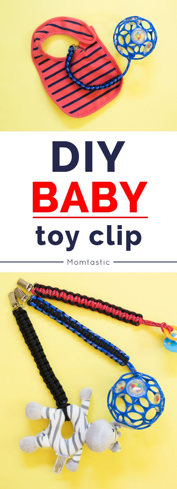 DIY baby toy/pacifier clip