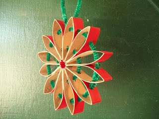 Cats, Kids and Crafts: Cardboard Tube Recycle Ornament