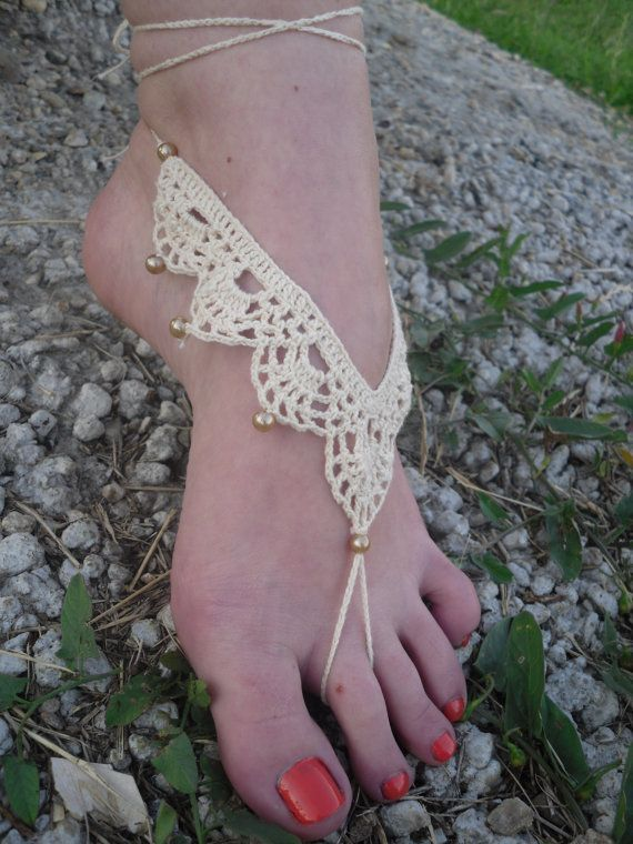 Free Shipping Handmade Crochet Barefoot Sandals by Serbiangirl