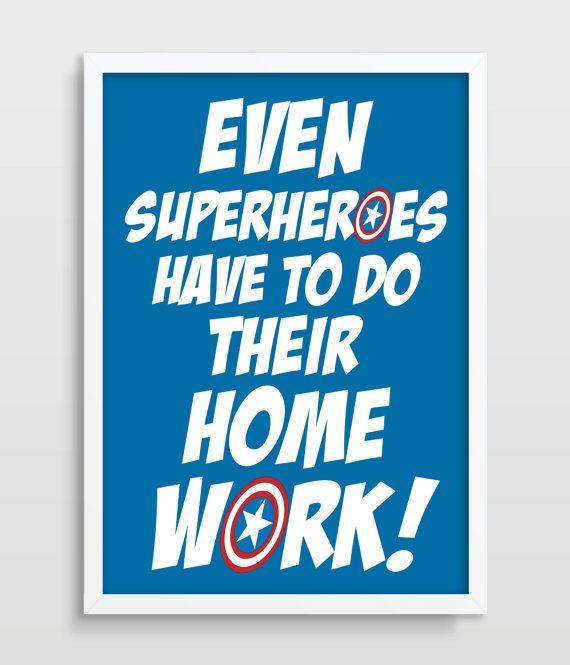 Kids Wall Decor Superhero Art Superheroes by TheWatermelonFactory