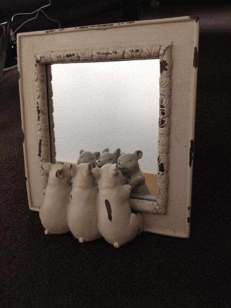 Mirror with Pigs