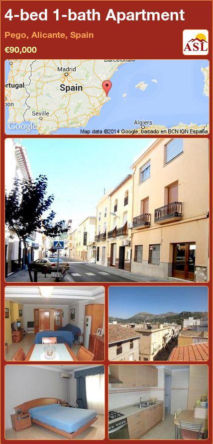 4-bed 1-bath Apartment in Pego, Alicante, Spain ►€90,000 #PropertyForSaleInSpain