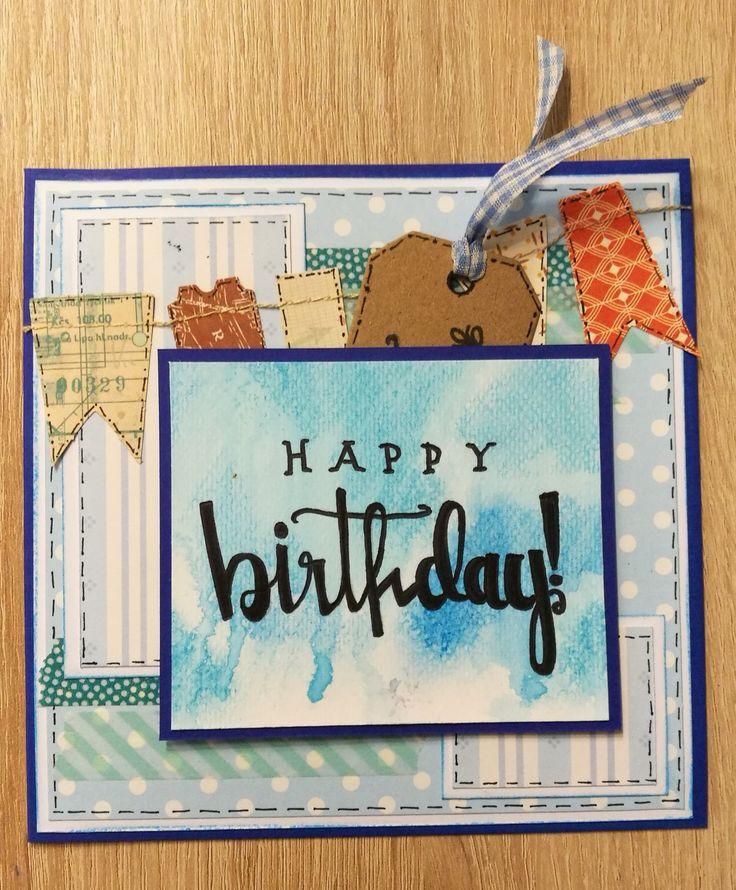 Geburtstagskarte für einen jungen Mann.
