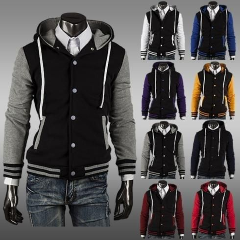 Item Type: Hoodies, Fleece, Varsity Jackets Gender: Men Clothing Length: Regular Sleeve Style: Regular Closure Type: Single Breasted Style: Fashion Fabric Type: