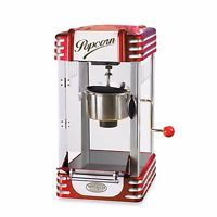 Vintage Retro Style Kettle Popcorn Popper Machine Stirrer Lighted Interior New
