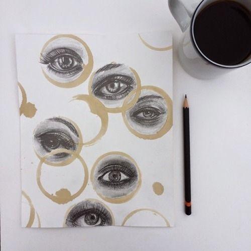 lexxyourahotmess:darksilenceinsuburbia:  Carter AsmannMixed media drawings using coffee stainsOn tumblr  Holy Jesus