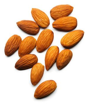 Almonds  Packed with monounsaturated fatty acids, which keep blood vessels healthy. The plant fibers help lower cholesterol.