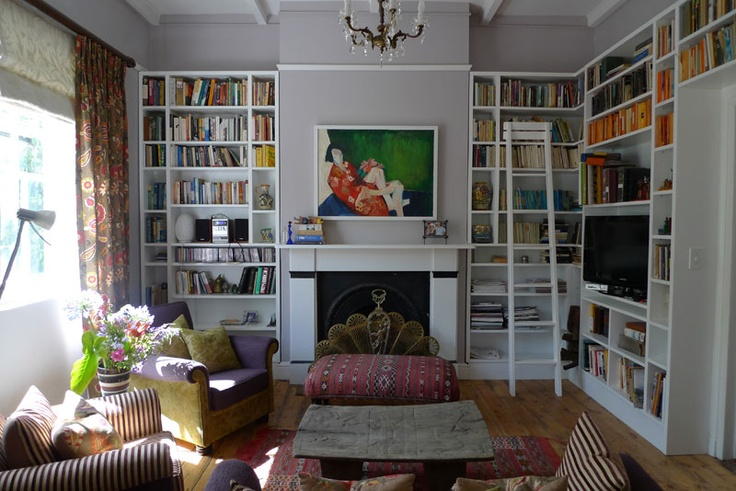 art and books - the perfect living room